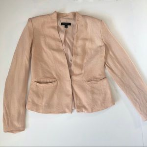 Ann Taylor Nude Pink Blazer with silver clasp
